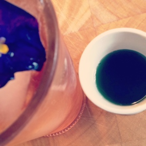 violet simple syrup