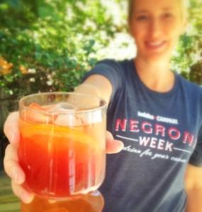 Strawberry Vinegar Negroni
